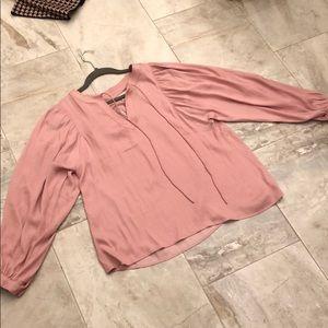 Loft pink blouse